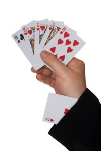 Cards in hand and ace in sleeve